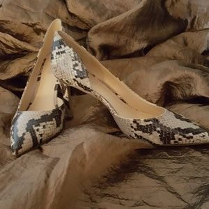 Nine West Snake Skin Heels 7.5M